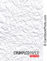 Crumpled Paper Vector background design.