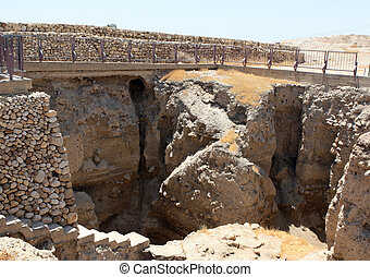 Excavations At Jericho, Israel - Excavations at the ancient...