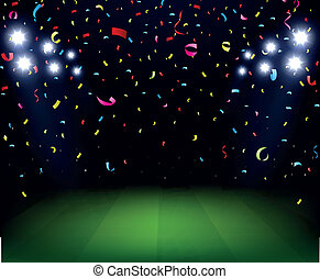 Soccer Stadium celebration - Vector Illustration of Soccer...