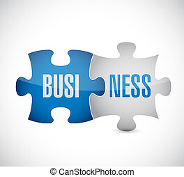 business puzzle illustration design