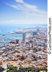 Alicante panoramic view, Spain