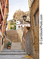 Alicante - Old street in Alicante, Spain