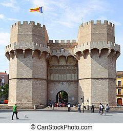 Torres de Serranos - Ancient towers Torres de Serranos in...