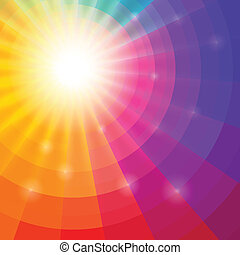 Abstract circular colorful background