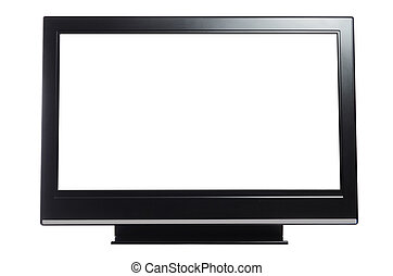 flat screen tv isolated on white