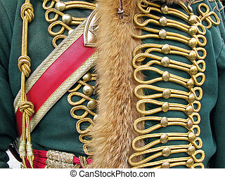 Ornate Military Uniform - close-up of French Napoleonic...
