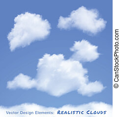 Realistic Clouds on blue sky