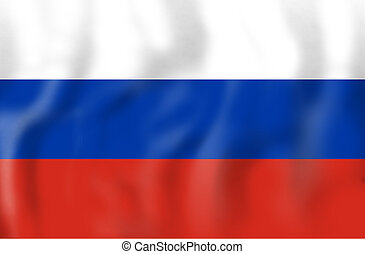 Russia Flag Creative Graphic Illustration Soccer Concept -...