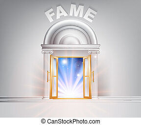 Door to Fame - Fame door concept of a fantastic white marble...