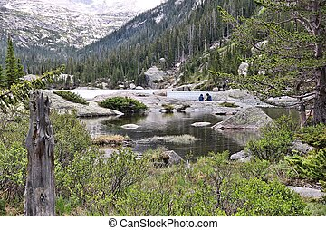 Rocky Mountain National Park in Colorado, USA Mills Lake