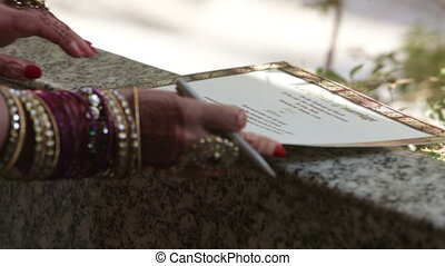 write wedding sertificat bride