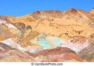 Death Valley in California, United States Scenic view of...