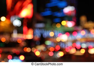 Las Vegas night - Las Vegas, Nevada, United States Defocused...