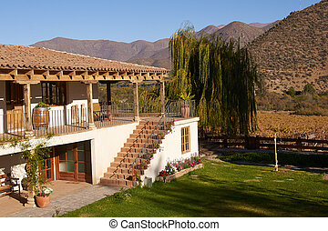 Historic Hacienda - Spanish style architecture of the...