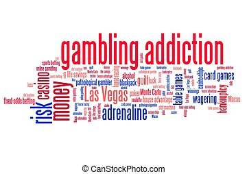 Gambling words - Gambling addiction concepts word cloud...