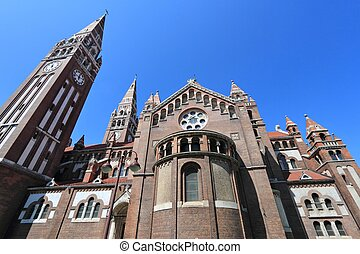 Szeged, Hungary City in Csongrad county Votive Church...