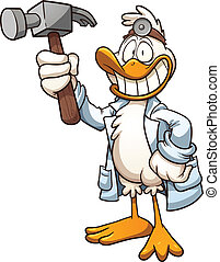 Quack doctor - Cartoon quack doctor Vector clip art...