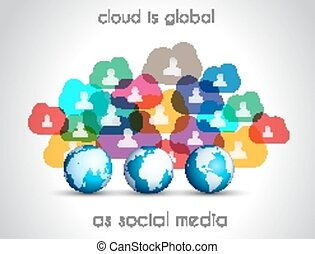 Modern Cloud Globals infographic concept background for...