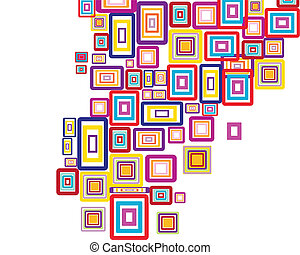 rectangle background - Abstract colorful vector background...