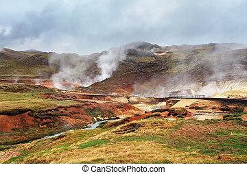 Seltun, Iceland - active volcanic area in Reykjanes...