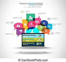 Modern Cloud Globals Services concept background for social...