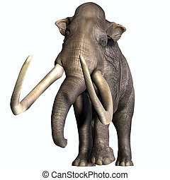 Columbian Mammoth Front Profile - The Columbian Mammoth...