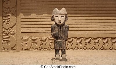 Chan Chan Temple in Peru - HD-Video-footage of the Ruins of...
