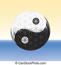 Flower of Life Yin Yang