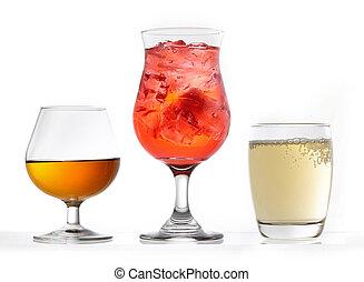 três, ÓCULOS, Vário, bebidas