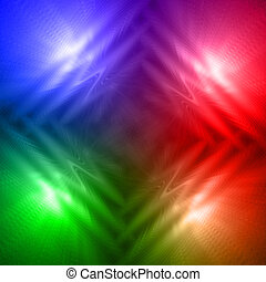 abstract motley rainbow background with four shining lines...