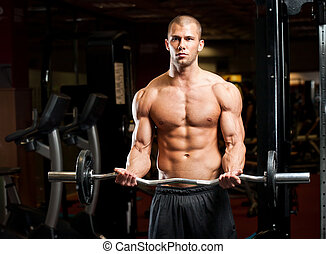 Healthy and strong. - Portrait of super fit muscular young...