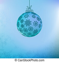 Christmas background with blue ball.  + EPS8