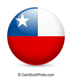 Round glossy icon of Chile - Flag of Chile as round glossy...