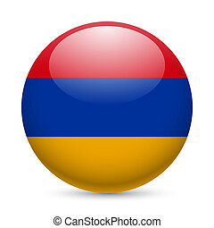 Round glossy icon of Armenia - Flag of Armenia as round...