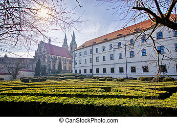 Silesian Piast Dynasty Castle in Brzeg, Poland - Old...