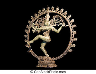 Shiva dancing over maya demon - Hindu statue of Shiva...