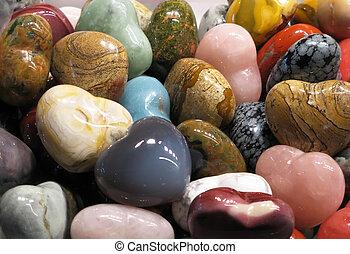 Conjunto, semiprecious, piedras
