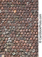 Tiled roof - Fragment of tiled roof of Raperswil castle