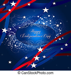 Happy Independence Day - An abstract illustration of Happy...