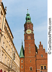Town hall in Wroclaw, Poland - Old town hall in Wroclaw,...