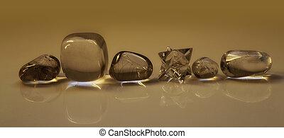 Sepia Healing Crystals Header