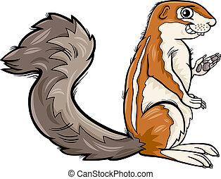 xerus animal cartoon illustration - Cartoon Illustration of...
