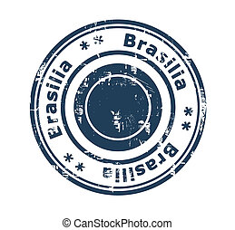 Brasilia concept stamp - Grunge stamp of the city of...