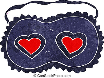 cartoon sleeping mask with love hearts