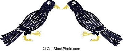 cartoon crows