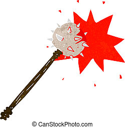 cartoon bloody medieval mace