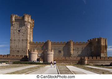 La Mota Castle in Valladolid Spain