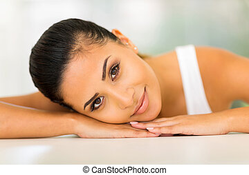 gorgeous young woman relaxing
