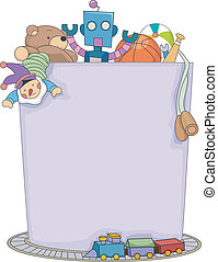 Boys Toys Background - Background Illustration Featuring a...