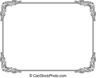 Frame - Old style black decorative frame, very easy to...